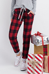 Winter Buffalo Plaid Joggers