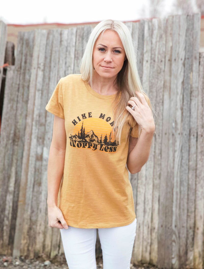 Hike More, Worry Less Graphic Tee