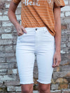 Dylan White Denim Short
