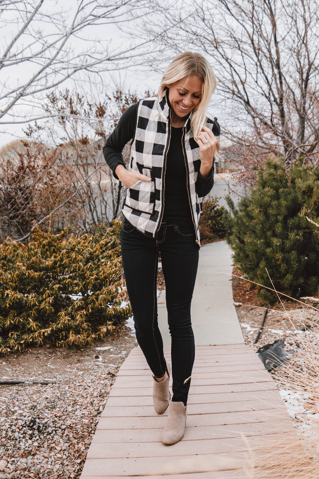 Ashley Buffalo Plaid Vest