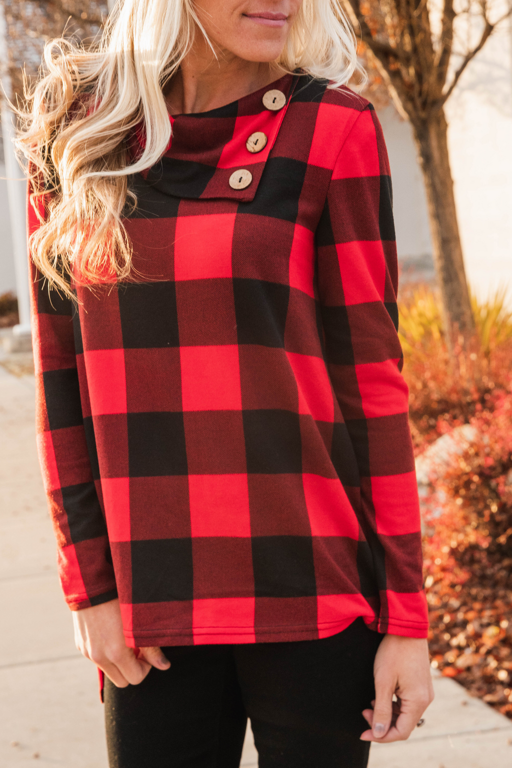Emilia Buffalo Plaid Top