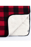 Check Throw Blanket with Sherpa