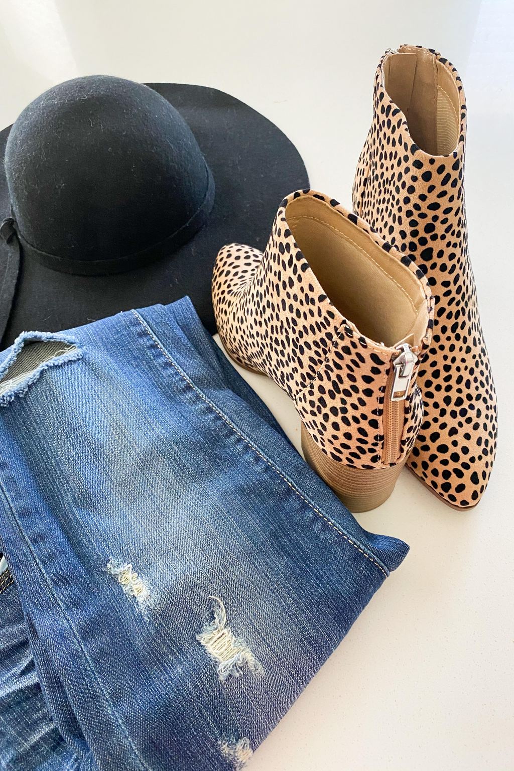 Audrey Cheetah Print Booties