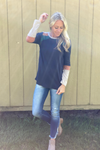 Brielle Multi Color Contrast Top