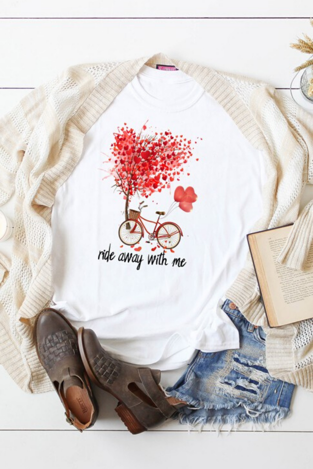 Valentines Bike Graphic Tee