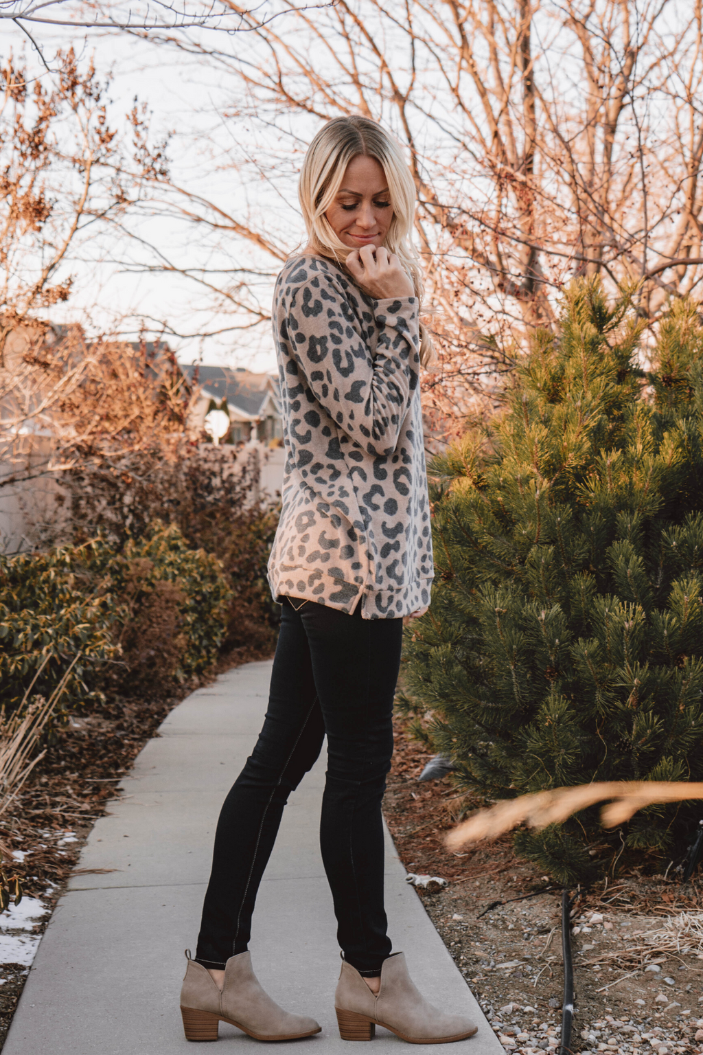 Sawyer Leopard Print Top