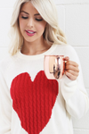 Liv Cable Knitted Heart Sweater