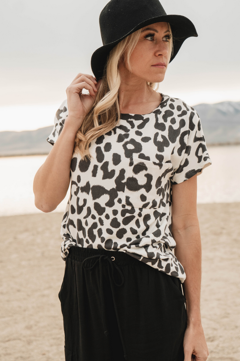 Aria Animal Print Top