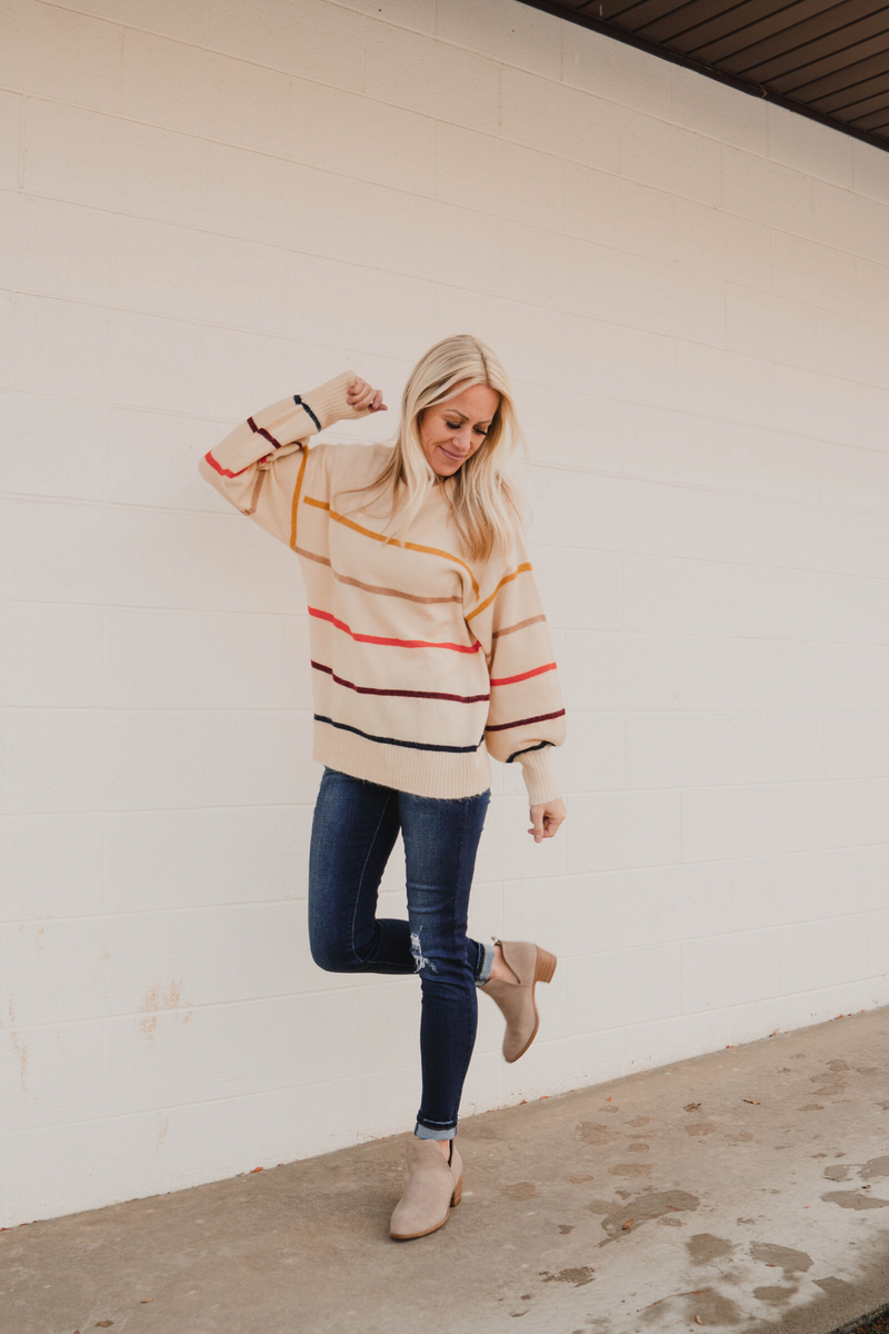 Brylee Striped Sweater