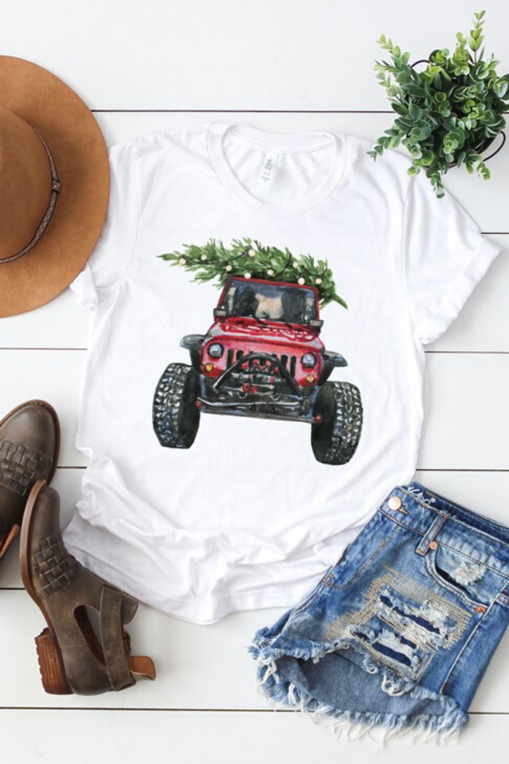 4 Wheeling Jeep Graphic Top
