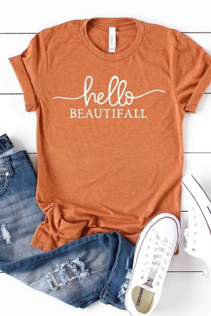 Hello BeautiFALL Graphic Tee