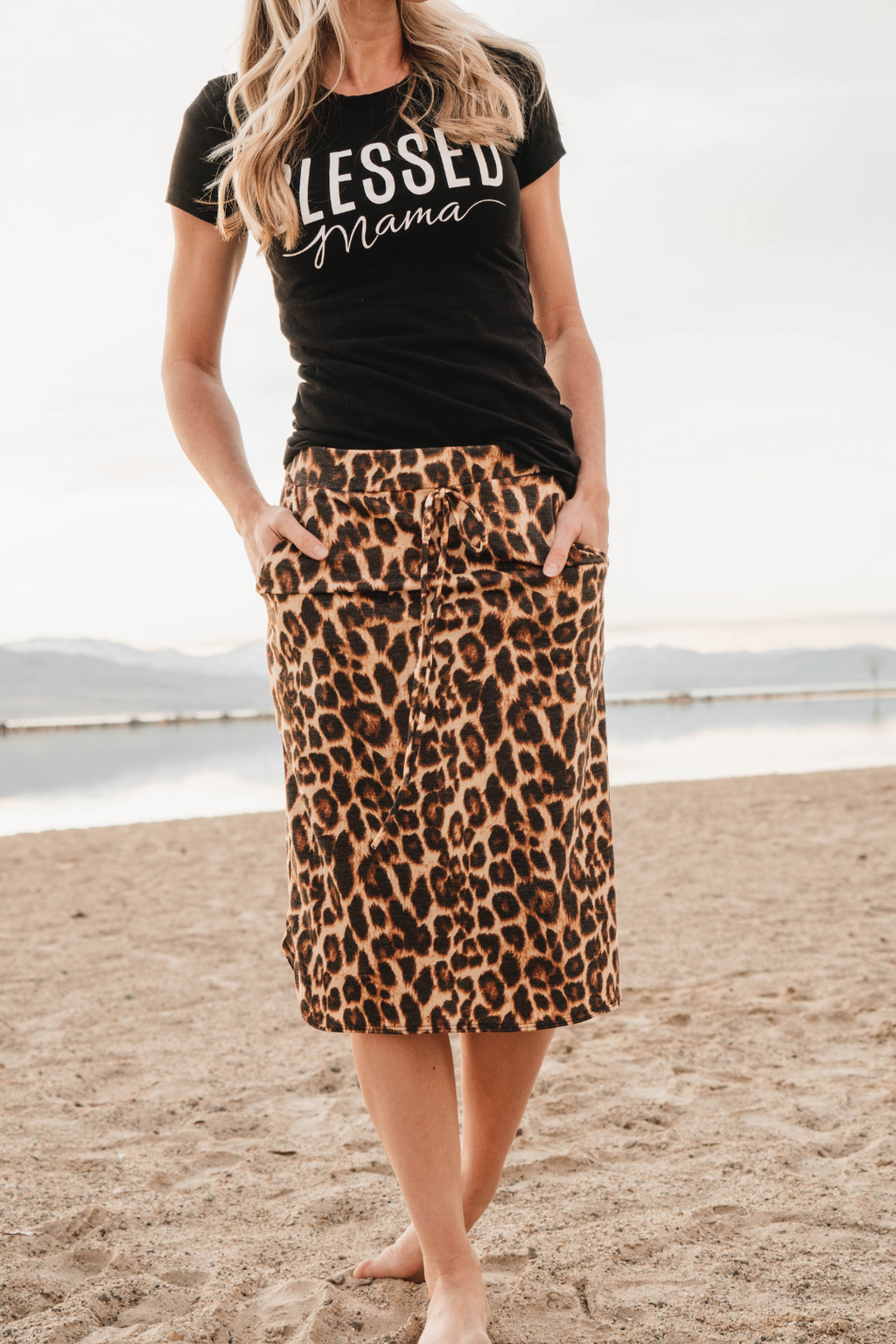 Millie Animal Print Midi Skirt
