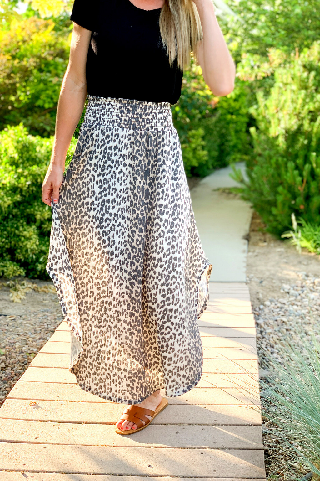 Kaylie Cheetah Print Skirt