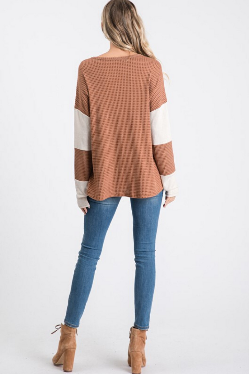 Kailey Color Block Top
