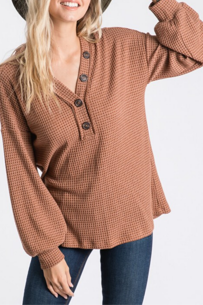 Haven Two Tone Waffle Top