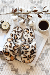 Zoey Cheetah Faux Slippers