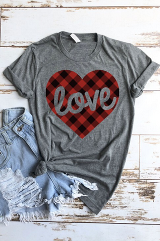 Teal Heart Graphic Tee