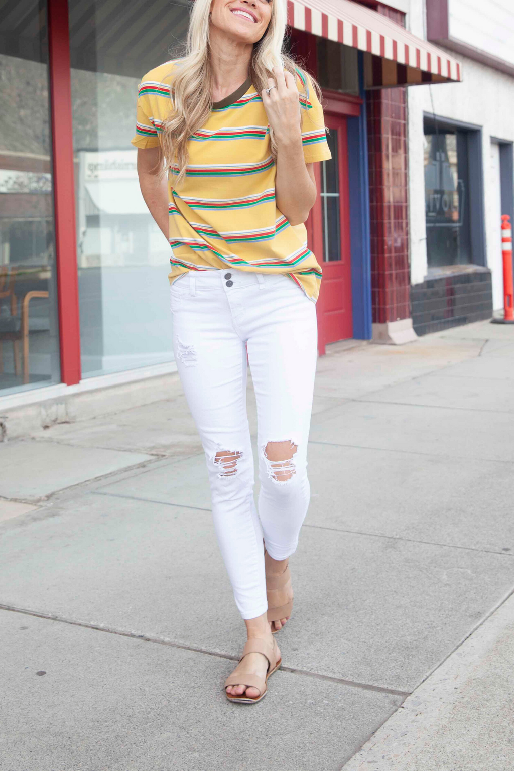 Haley White Skinny Jeans - only 9 & 11's left!