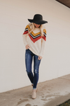 Rylie Chevron Knit Sweater