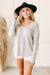 Amira Textured Top in Gray