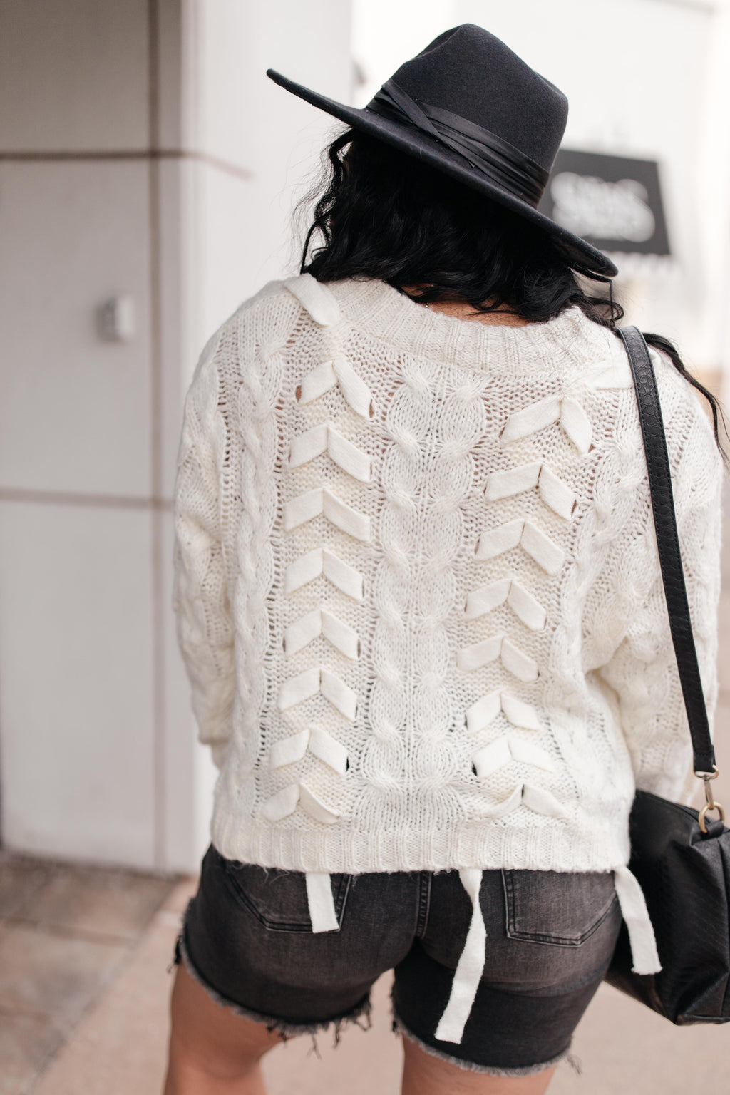 Braids and Ribbon Sweater