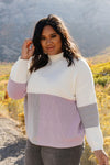 Chloe Color Block Sweater in Lavender