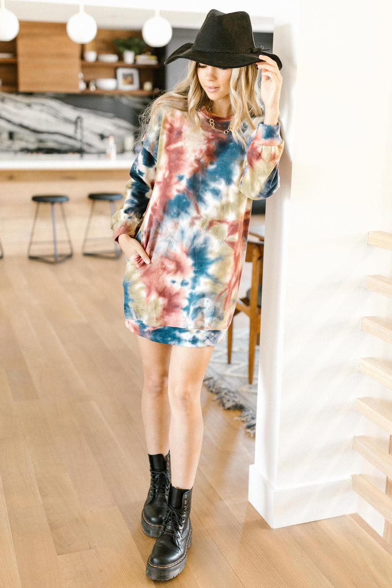 Choices and Colors Tie Dye Tunic/Dress