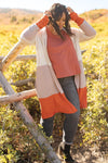 Clarissa Striped Cardigan in Paprika