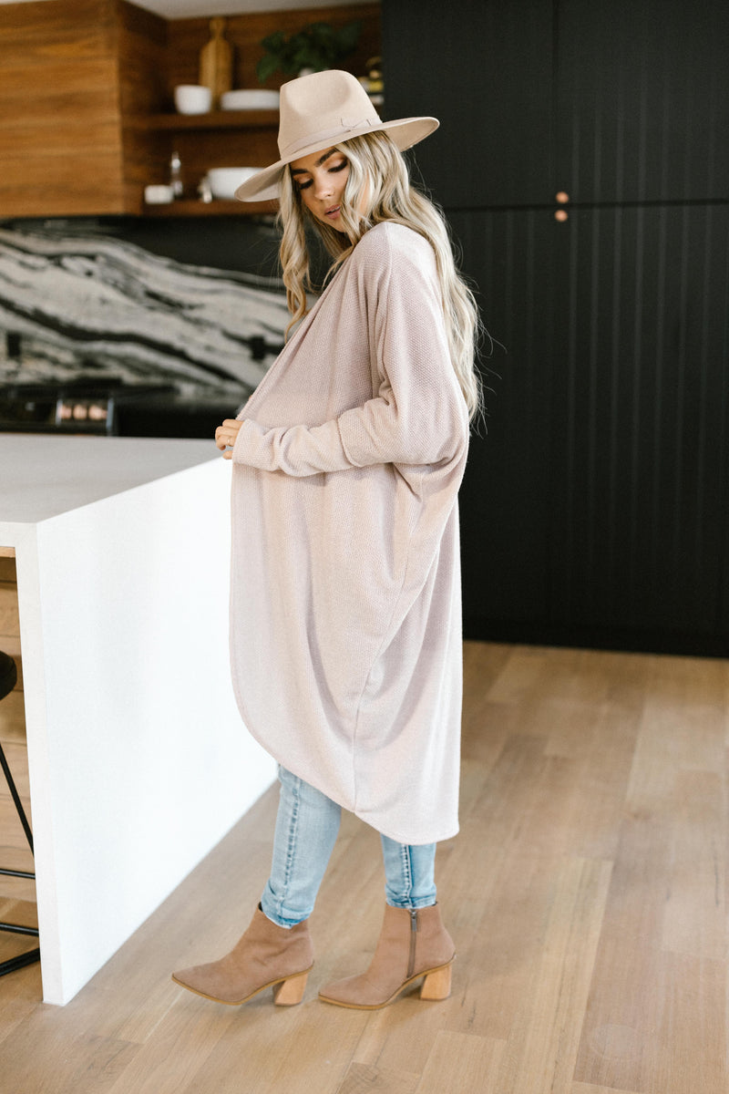 Cozy Cardigan In Taupe