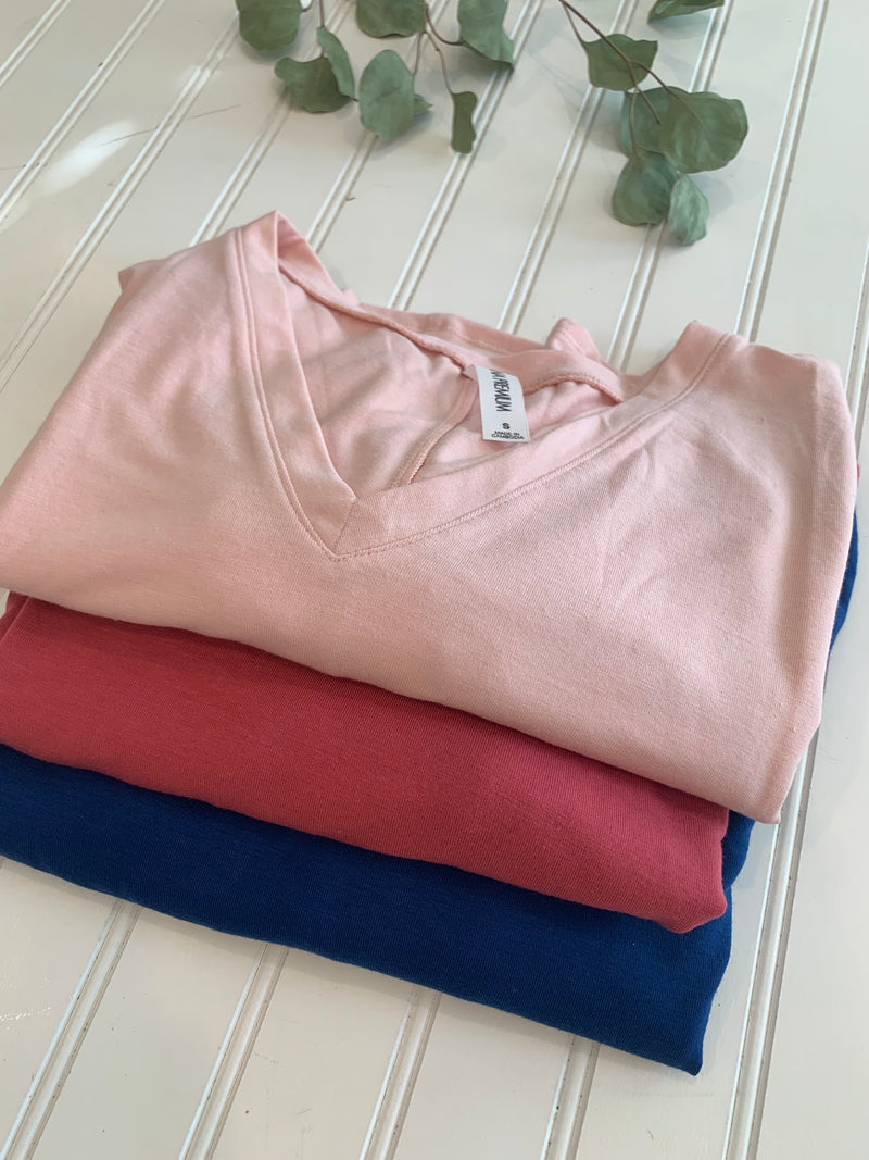 From top: Light Pink, Rose, Sapphire