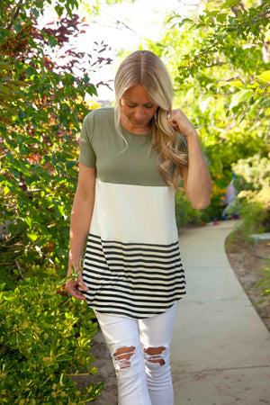 Kaylee Color Block Top