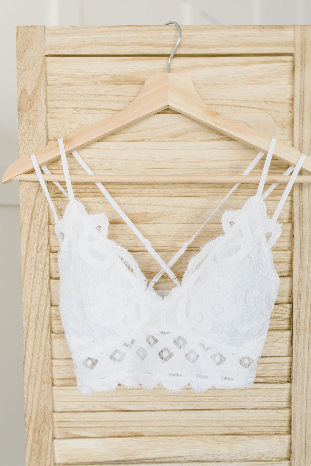 Lacey and Layered Bralette in White