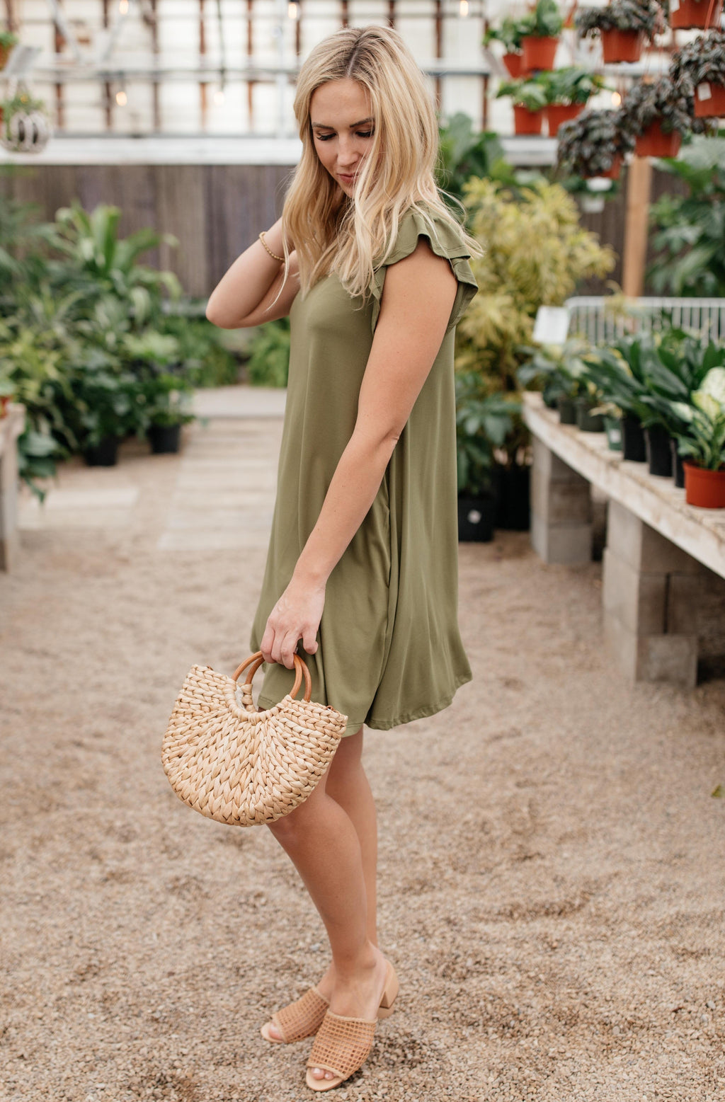 No Worries Dress in Olive