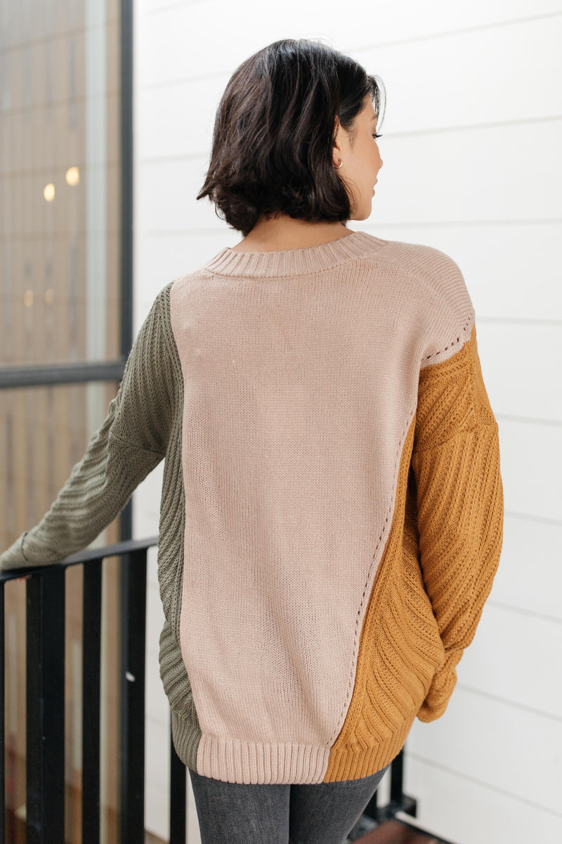 A Sweater With Colors in Taupe