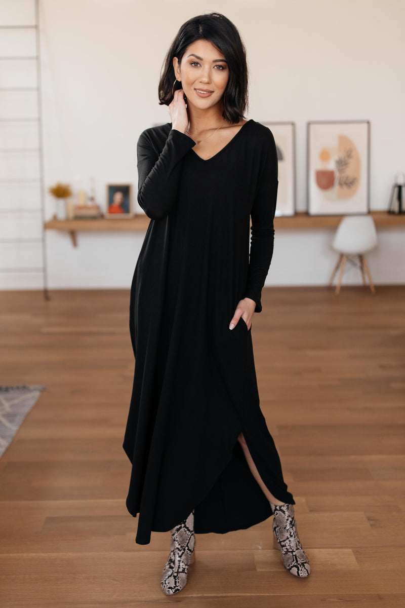 The Melanie Maxi Dress in Black