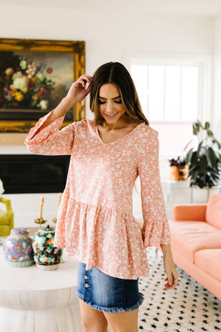 Floral Hints Hooded Pullover