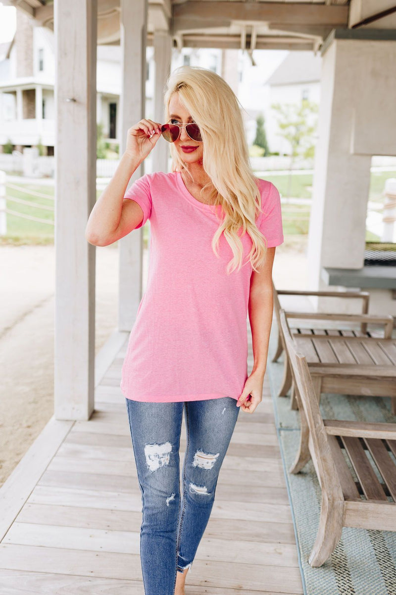 Pretty in Pink Basic Tee