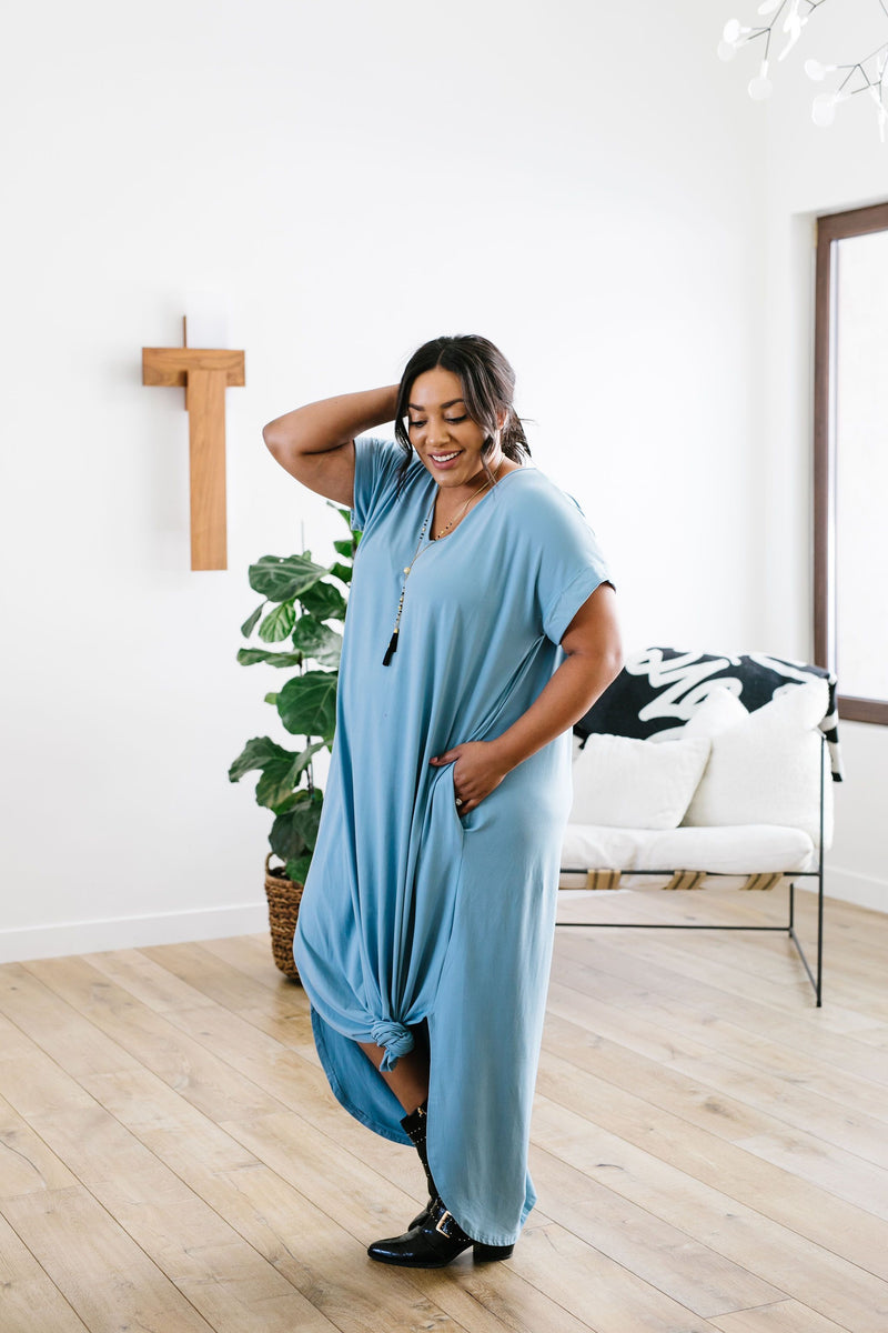 Free And Easy Maxi Dress In Chambray