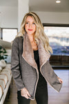Top Of The Class Taupe Cardi