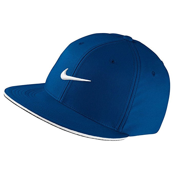 Nike Golf True Statement Aerobill Fitted Hat, Blue Jay/White, M/L