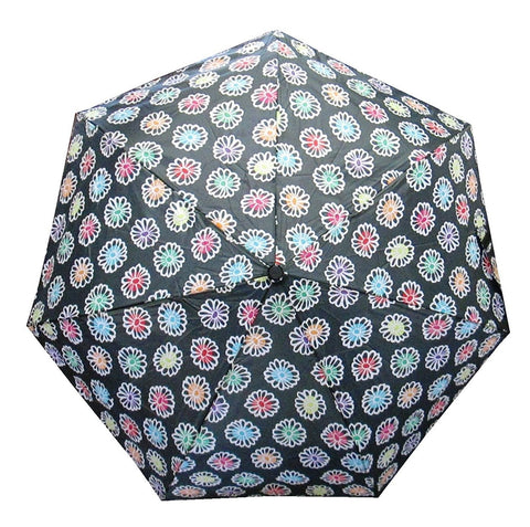 "Totes Auto Open and Close 44"" Arc Umbrella, Multi-Color Floral"