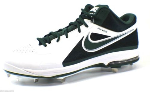 Nike AirMax MVP Elite FlyWire Baseball Cleats, Green/White, Size 16
