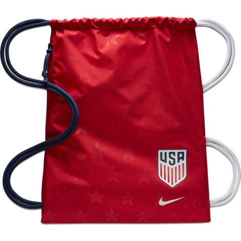 Nike Team USA Soccer Stadium Sack Pack Drawstring Backpack, Red/White/Blue
