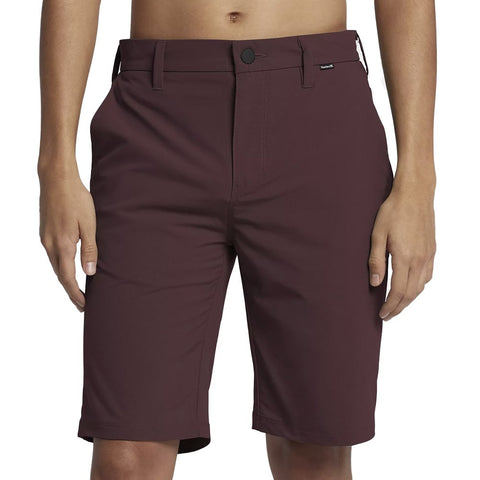 "Hurley One and Only Dri-Fit Chino 21"" Shorts, Mahogany, 33"" Waist"