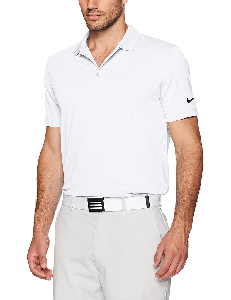 Nike Dri-Fit Performance Polo , White/Black, Medium