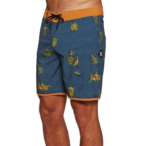 "Hurley Phantom Paradiso 18"" Boardshorts, Blue Force Print, 34"