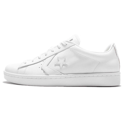 Converse PL 76 Leather Ox, White/White/White, 11