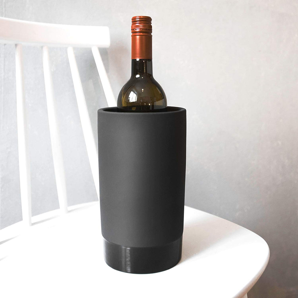 Magisso Naturally Cooling Ceramic Wine Chiller, Black