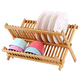"Better Chef Quality 18"" Bamboo Folding Dish Rack, Natural Bamboo"