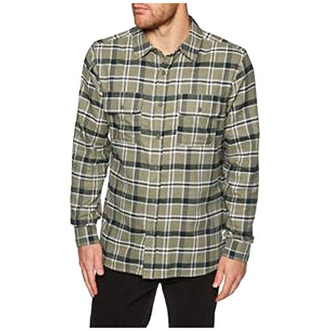 Hurley Men's Dri-FIT Hemmingway Long Sleeve Flannel Shirt Green LARGE